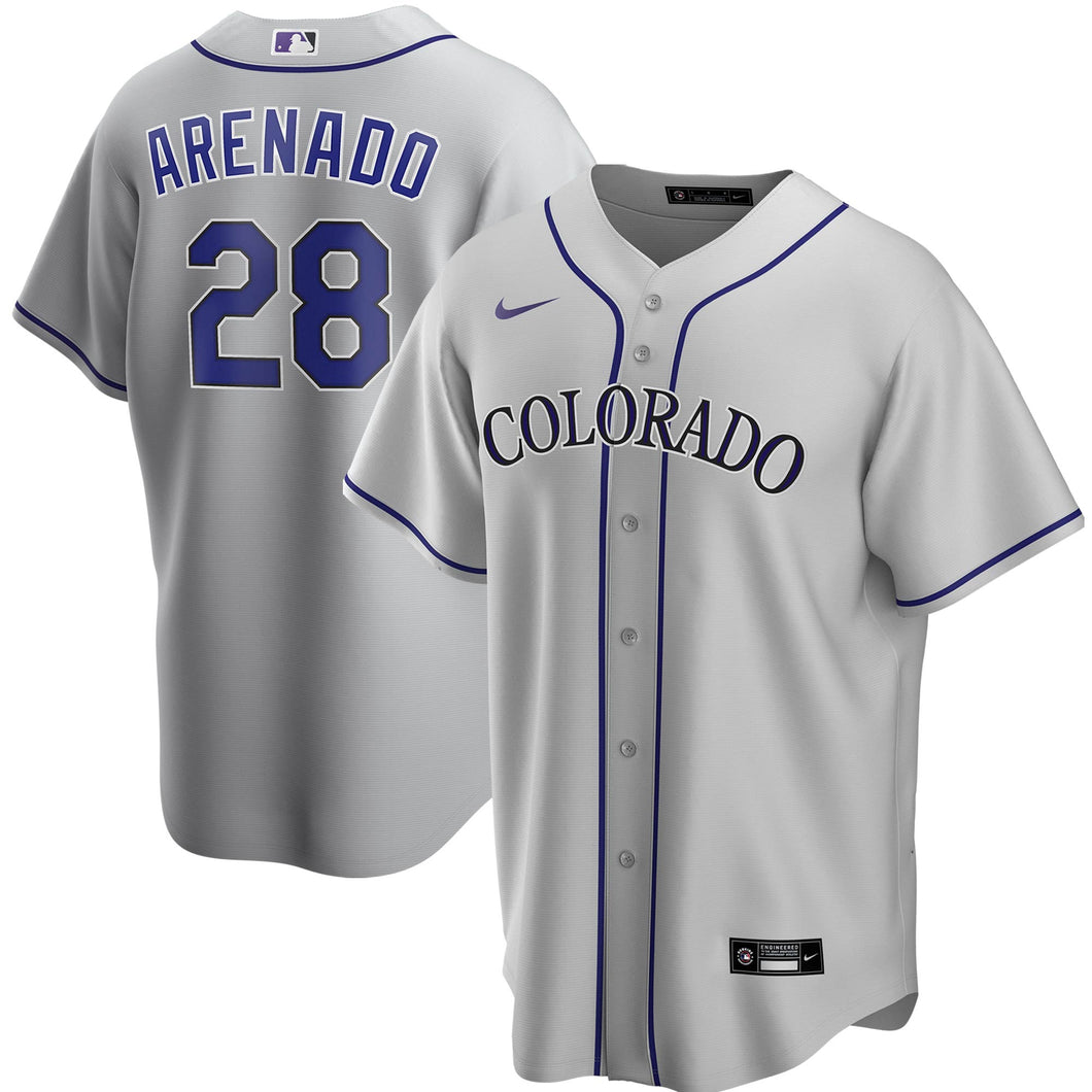 Colorado Rockies Gray Road 2020 Team Jersey