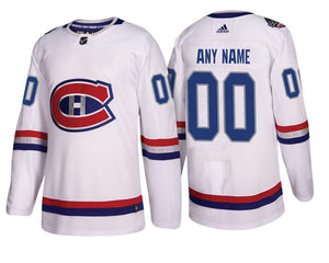 Montreal Canadiens White 2017 NHL 100 Classic Team Jersey