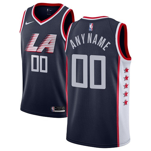Los Angeles Clippers Navy Blue Jersey