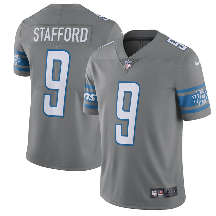 Detroit Lions Steel Grey Color Rush Team Jersey