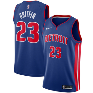 Detroit Pistons Blue Team Jersey - Icon Edition