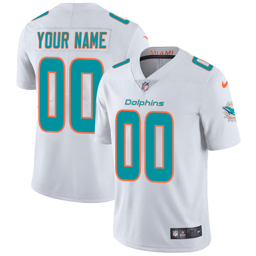 Miami Dolphins Away White Team Jersey