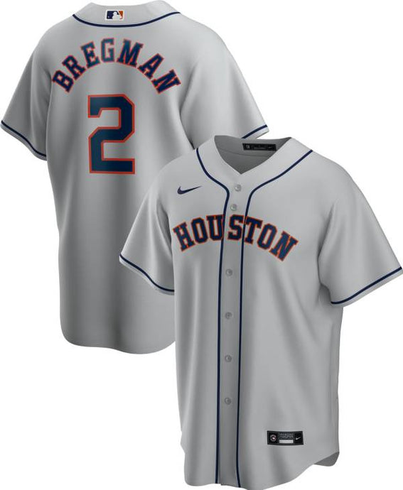 Houston Astros Gray Road 2020 Team Jersey
