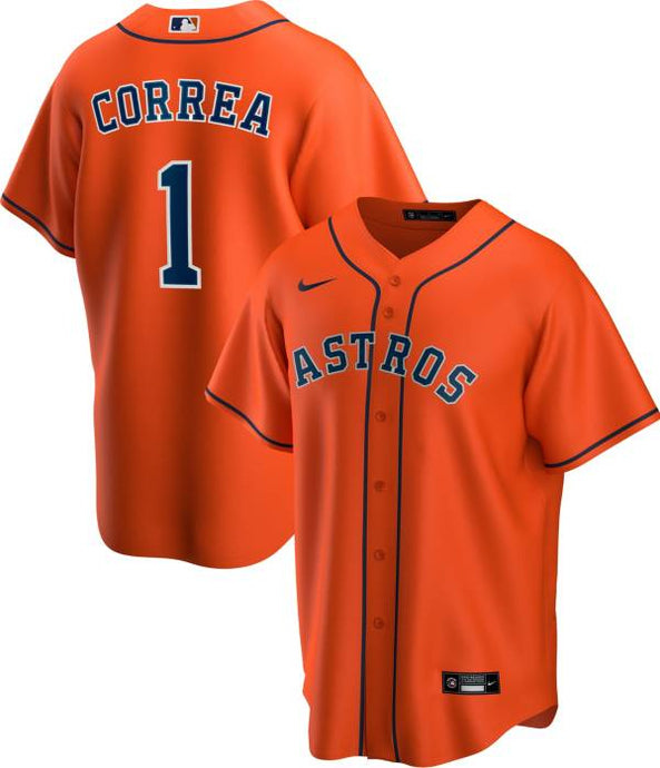 Houston Astros Orange Alternate 2020 Team Jersey