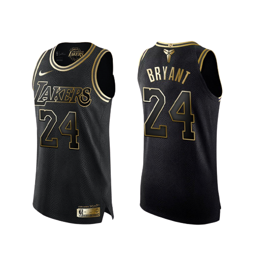 Los Angeles Lakers Kobe Bryant Gold and Black Player Jersey