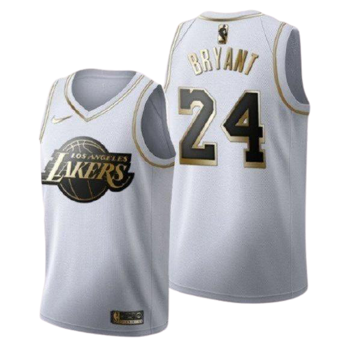 Los Angeles Lakers Kobe Bryant Gold and White Player Jersey