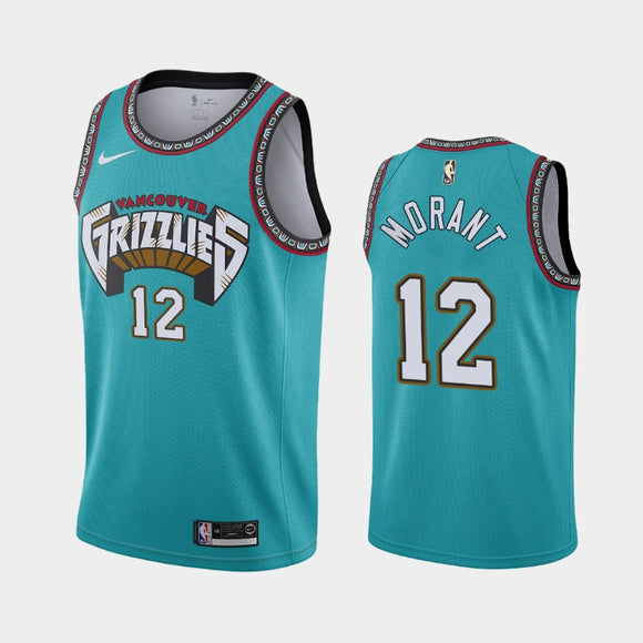Memphis Grizzlies 2019 Teal Throwback Team Jersey