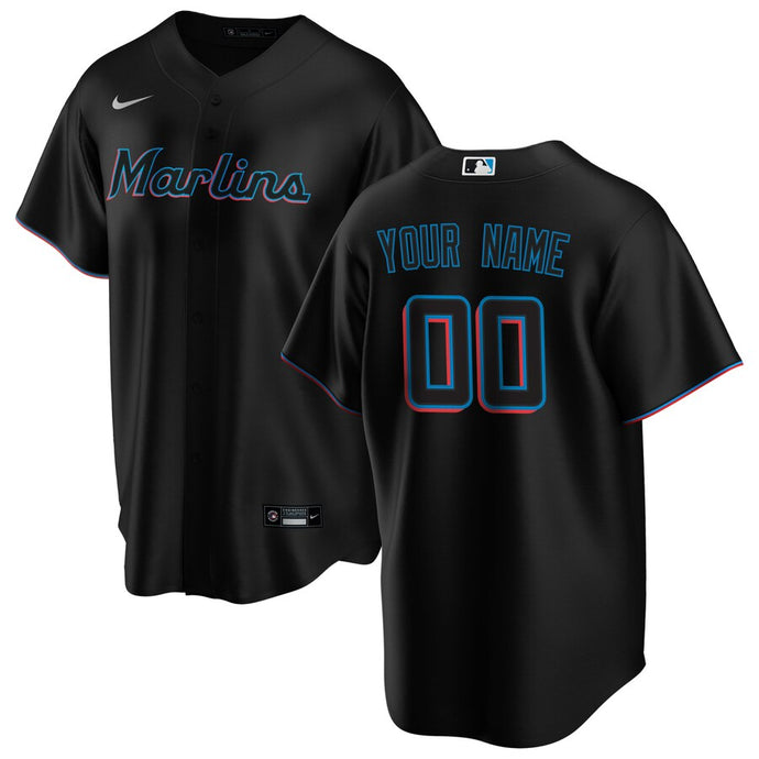 Miami Marlins Black Alternate 2020 Team Jersey