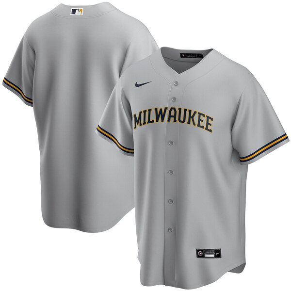 Milwaukee Brewers Gray Road 2020 Team Jersey