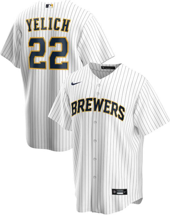Milwaukee Brewers White/Navy Alternate 2020 Team Jersey