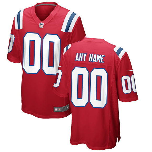 New England Patriots Throwback Red Team Jersey