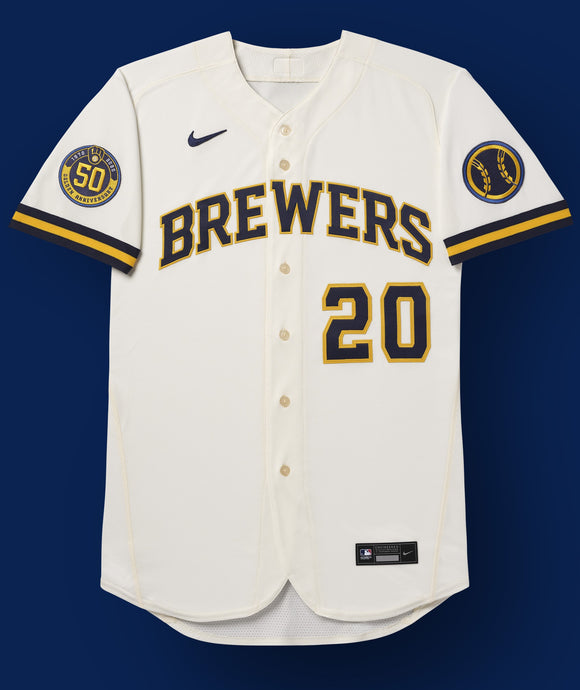 Milwaukee Brewers Cream Home 2020 Team Jersey
