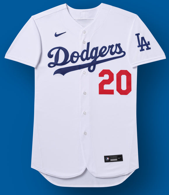Los Angeles Dodgers White Home 2020 Team Jersey