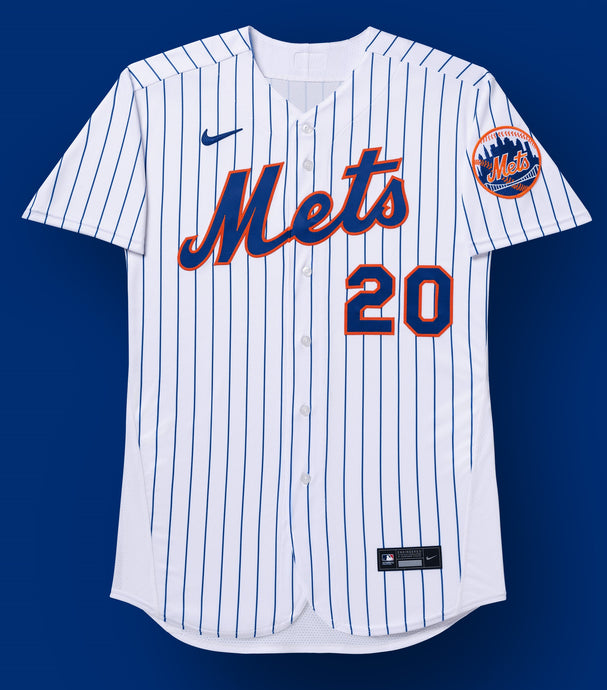 New York Mets White/Royal Home 2020 Team Jersey
