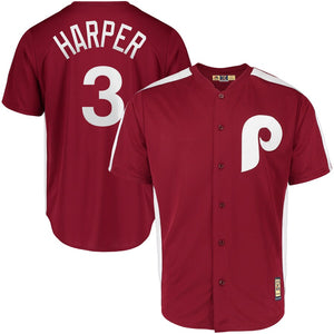 Philadelphia Phillies Maroon 1979 Saturday Night Special Cooperstown Team Jersey