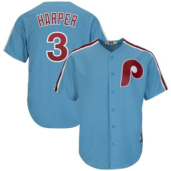 Philadelphia Phillies Light Blue 2019 Cooperstown Team Jersey