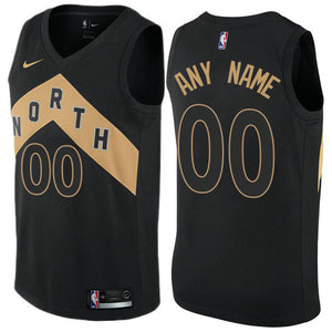 Custom Toronto Raptors Black North Jersey