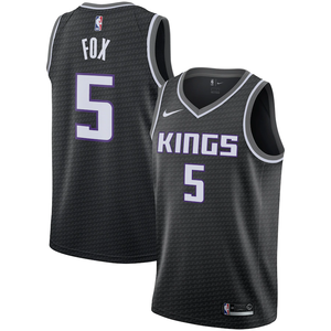 Sacramento Kings Black Team Jersey - Statement Edition