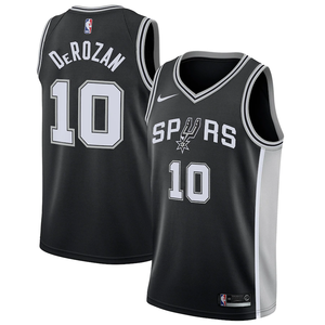 San Antonio Spurs Black Team Jersey - Icon Edition