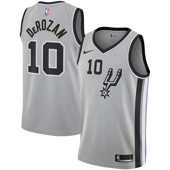 San Antonio Spurs Grey Team Jersey - Statement Edition