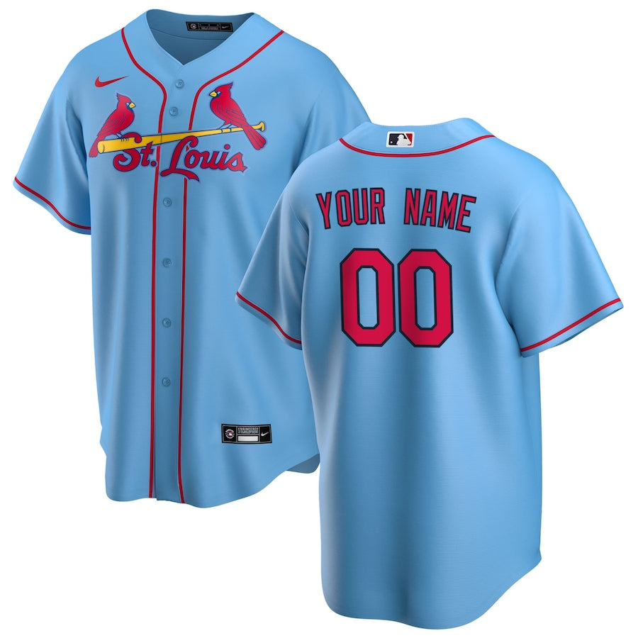 St. Louis Cardinals Light Blue Alternate 2020 Team Jersey