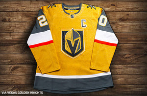 Vegas Golden Knights Gold Alternate Team Jersey