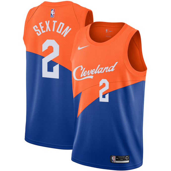 Cleveland Cavaliers Orange and Blue Team Jersey - City Edition