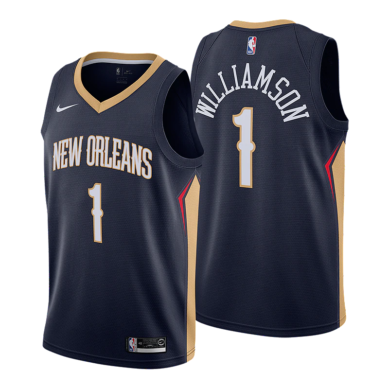 New Orleans Pelicans Navy Team Jersey - Icon Edition
