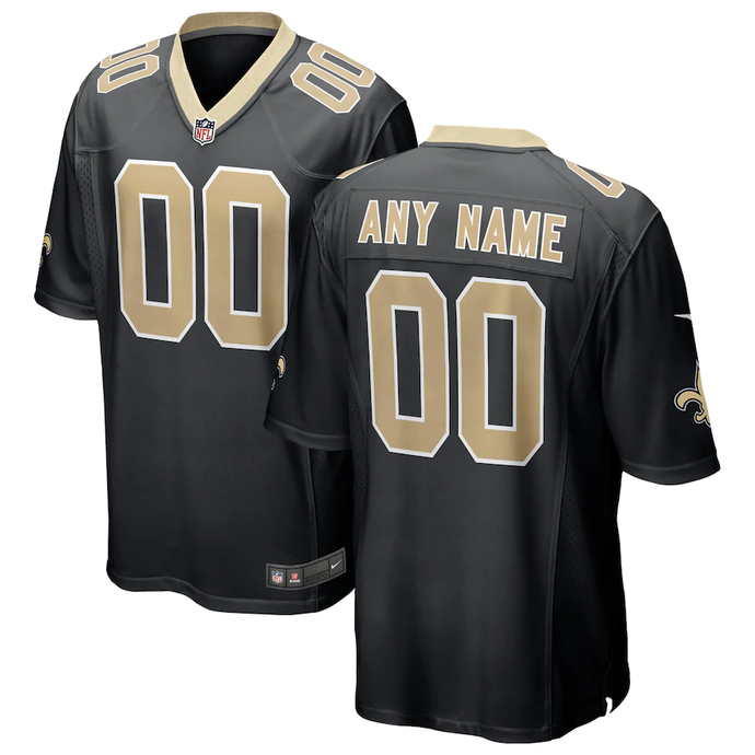 New Orleans Saints Home Black Team Jersey