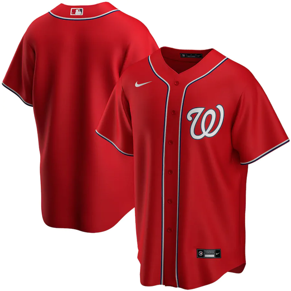 Washington Nationals Red Alternate 2020 Team Jersey
