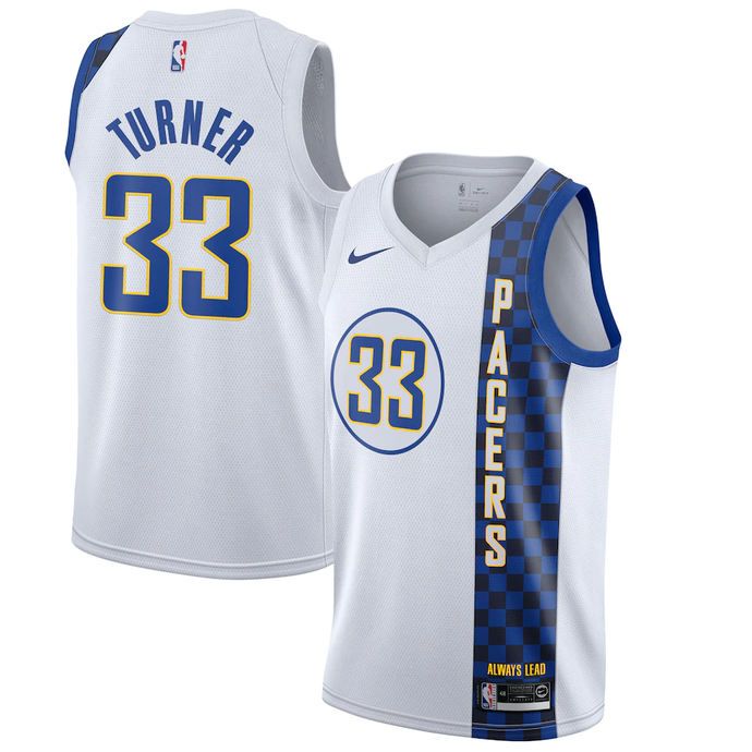 Indiana Pacers White Team Jersey - City Edition