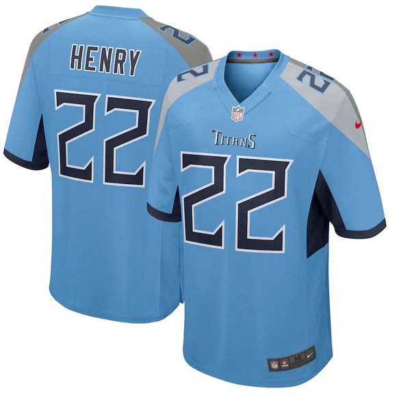 Tennessee Titans Home Light Blue Team Jersey