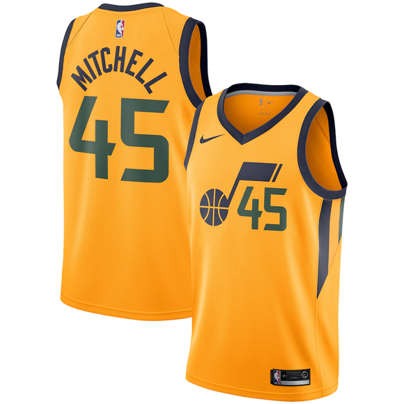 Utah Jazz Yellow Team Jersey - Statement Edition