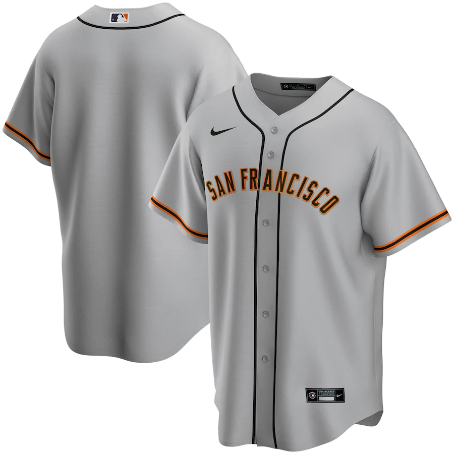 San Francisco Giants Gray Road 2020 Team Jersey
