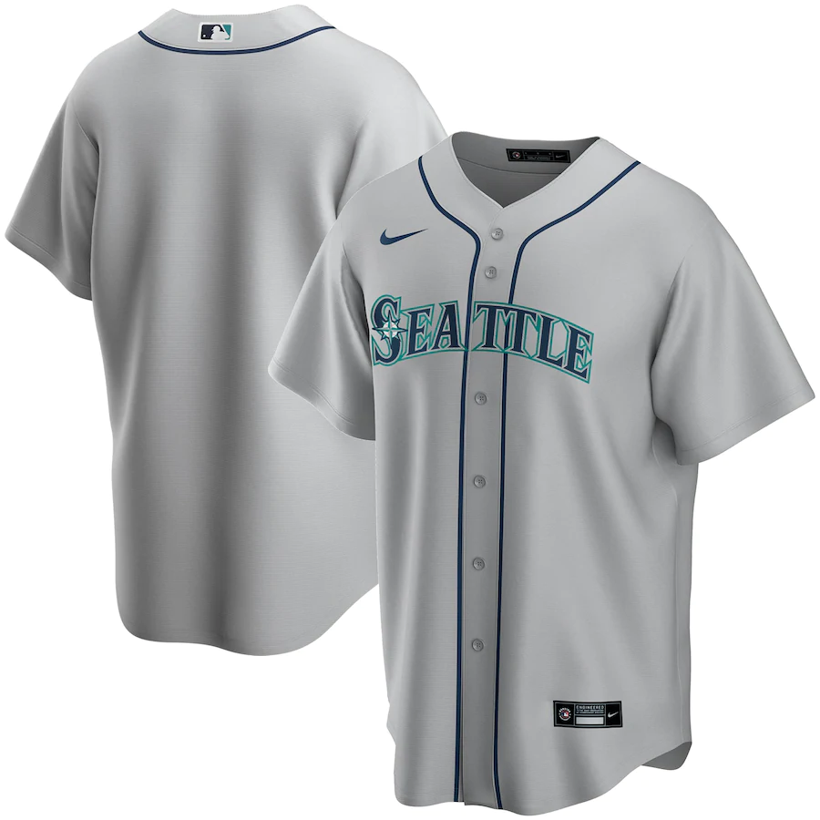 Seattle Mariners Gray Road 2020 Team Jersey