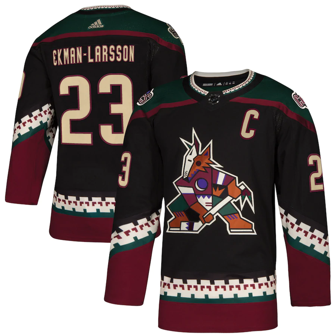 Arizona Coyotes Retro Black Team Jersey