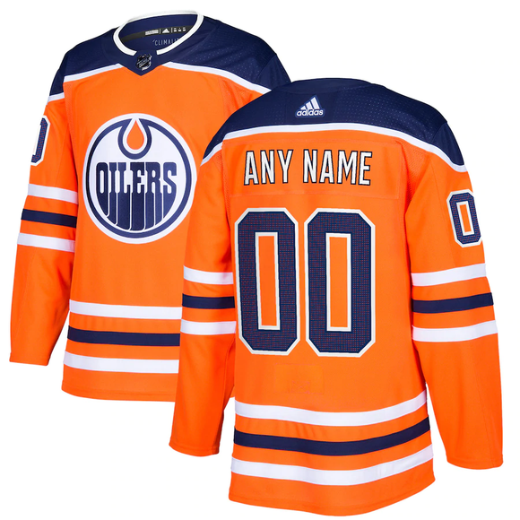 Edmonton Oilers Home Orange Team Jersey