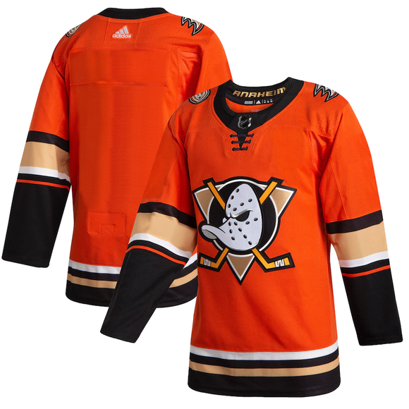 Anaheim Ducks Orange Alternate Team Jersey