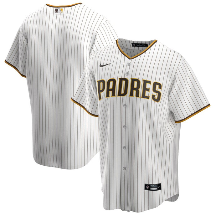 San Diego Padres 2020 White and Brown Pinstripe Jersey
