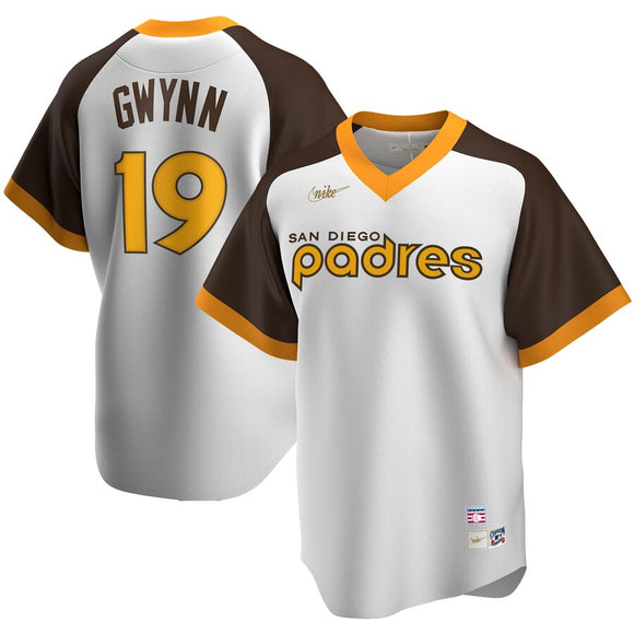 San Diego Padres White Home Cooperstown Collection Player Jersey