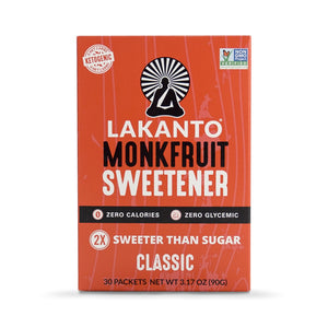 Classic Monkfruit 2:1 Sugar Substitute Packets