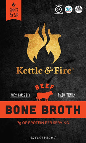 100% Grass-fed Beef Bone Broth - 16.2oz Pack of 2
