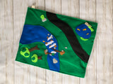 Reversible Neighborhood/River Road Car Play Mat