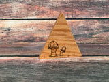January Limited Edition - Hand Burned Wooden Mountains