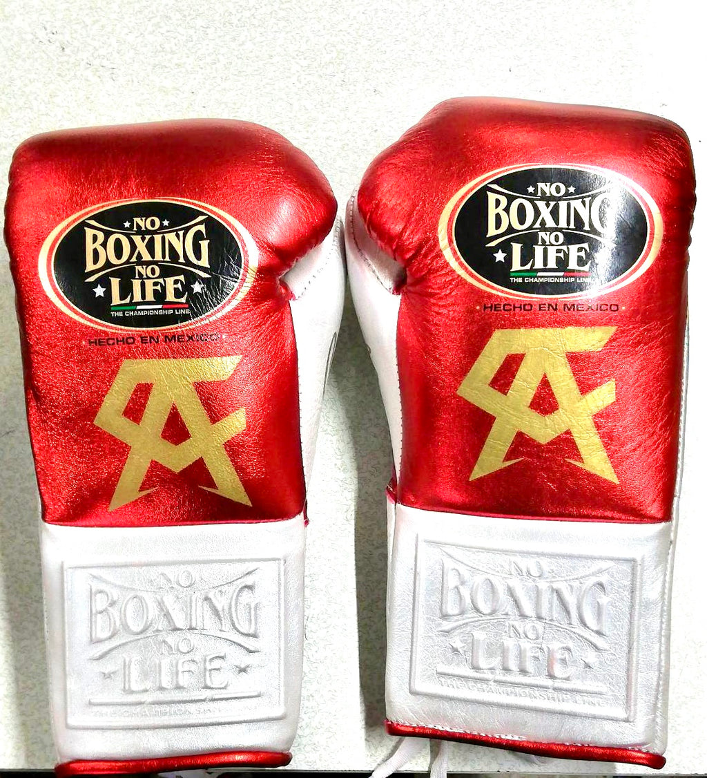 "GUANTE DE BOX 08 OZ CHAMPION CANELO ""FIGHT EDITION"" RED/WHITE"