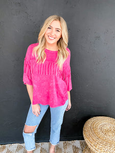 The Best Night Fringe Top