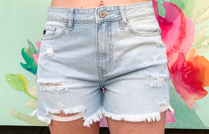Check Yourself High Rise Shorts