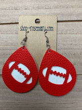 Load image into Gallery viewer, Football Leather Earrings