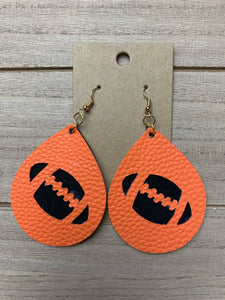 Football Leather Earrings