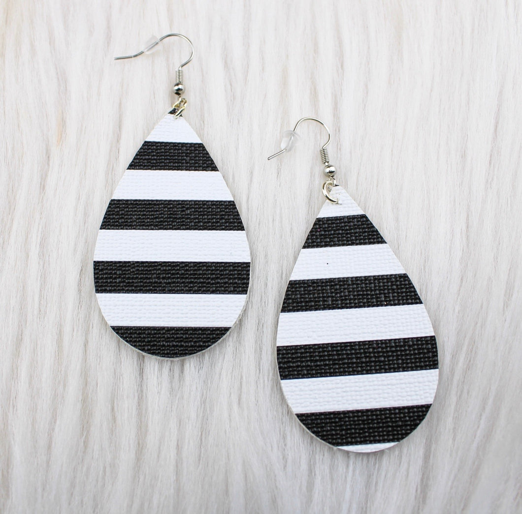 Stripe Teardrop Earrings